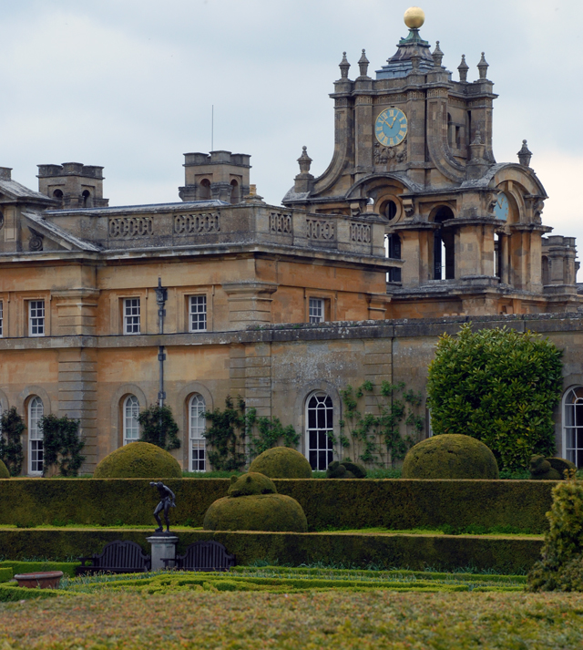 Private Italian gardens at Blenheim Palace by Lisa Cox