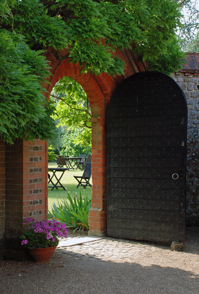 Entrance to the Walled Garden Loseley Park Lisa Cox Designs