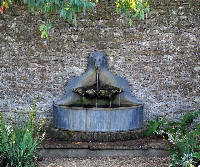 Lead fountain Loseley White Garden Lisa Cox Designs