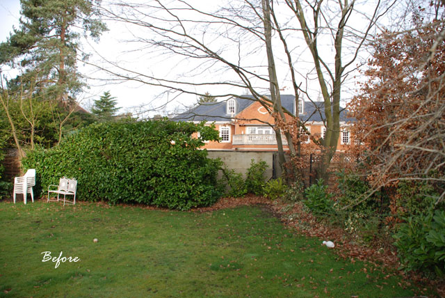 Oxshott back garden before redesign Lisa Cox