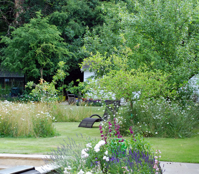 Oxshott back garden design Lisa Cox