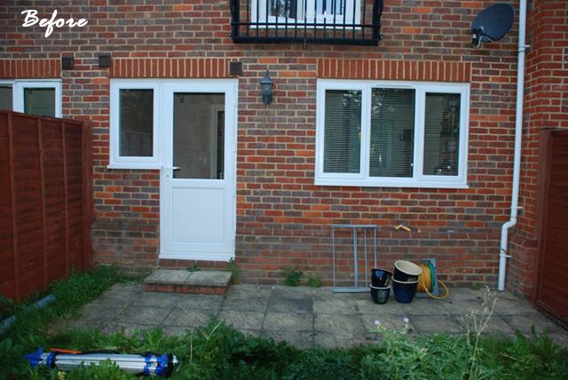 Sutton back garden before redesign Lisa Cox