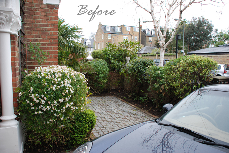 Front garden Wandsworth before redesign Lisa Cox copy