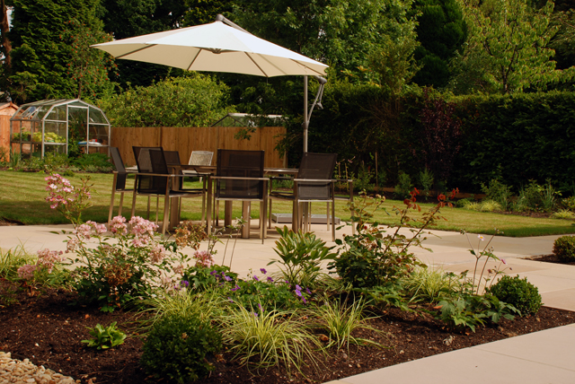 New terrace East Horsley Garden Design Lisa Cox