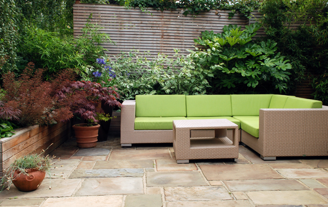 Rear terrace design in Wandsworth Lisa Cox Garden Designs