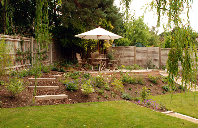 Dealing with sloped gardens lisa cox garden designs blog for Garden design ideas for medium gardens