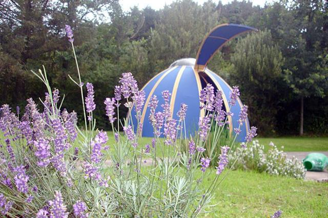 Unidome pod in garden