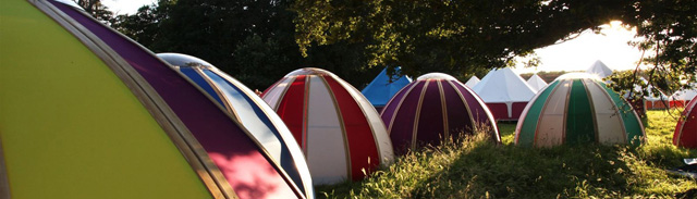 Unidome pods at creamfields festival
