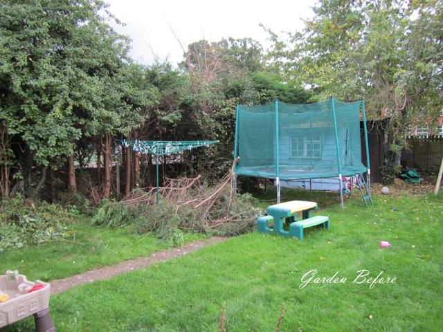 Back garden before redesign West Horsley Lisa Cox Designs