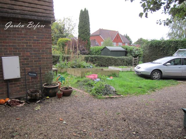 Front garden West Horsley before redesign Lisa Cox Designs