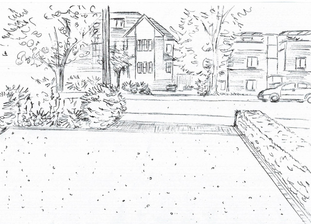Concept sketch front garden Sutton Lisa Cox Designs