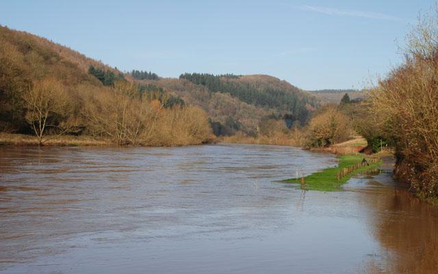 Flooded Wye river at Brockweir Lisa Cox Garden Designs