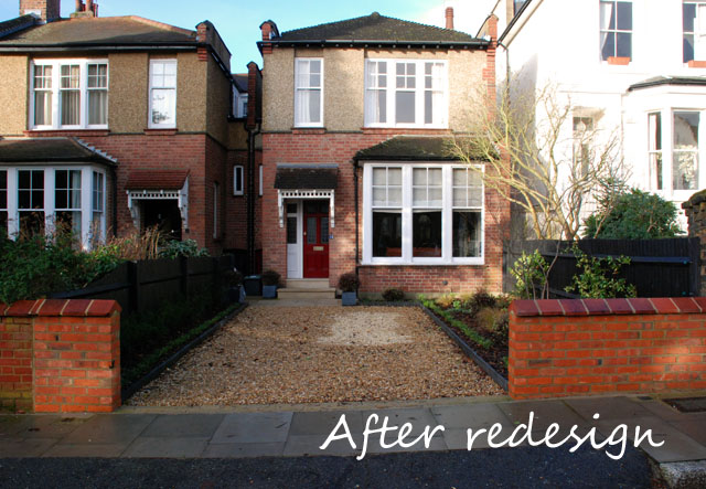North London front garden after construction Lisa Cox Designs