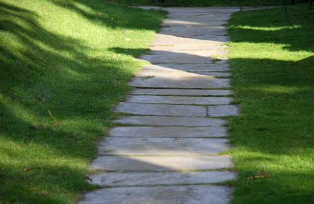 Pathway by St Marys Church Leatherhead Lisa Cox Garden Designs
