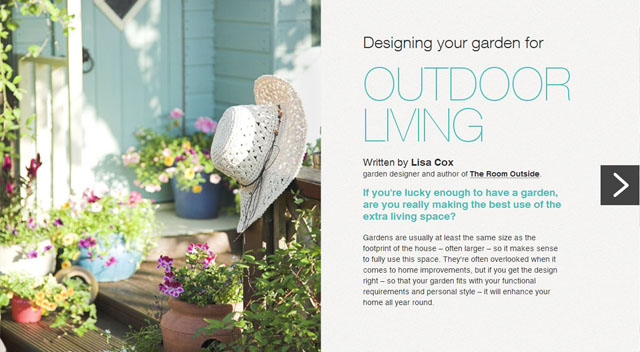 Designing your garden for outdoor living article M&S Bank Lisa Cox Designs