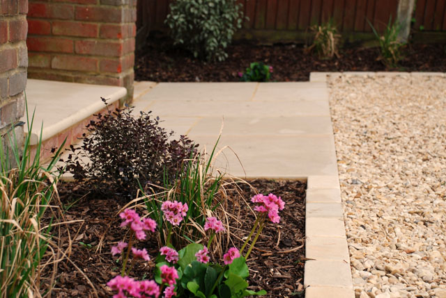 Front step & paving Sutton garden Lisa Cox Designs