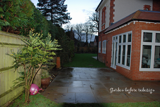 Woking garden before makeover Lisa Cox Designs
