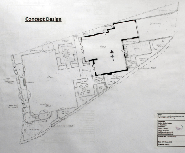 Concept Plan East Horsley Lisa Cox Garden Design