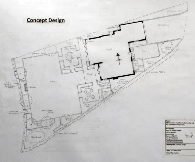 Concept Plan East Horsley Lisa Cox Garden Design