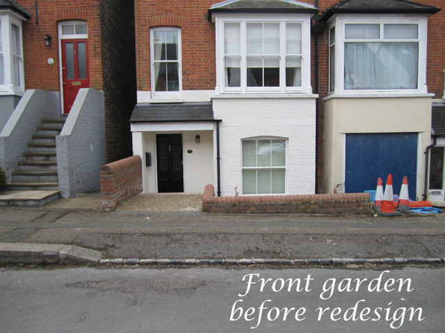 Front garden Reigate before redesign Lisa Cox Designs