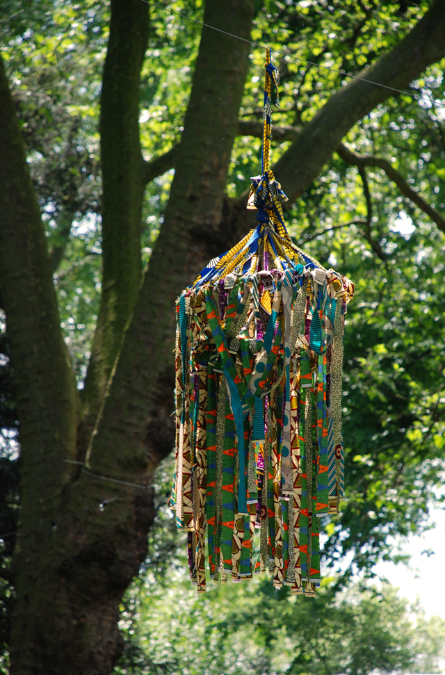 Artisan retreat fabric lantern RHS Chelsea 2014 Lisa Cox