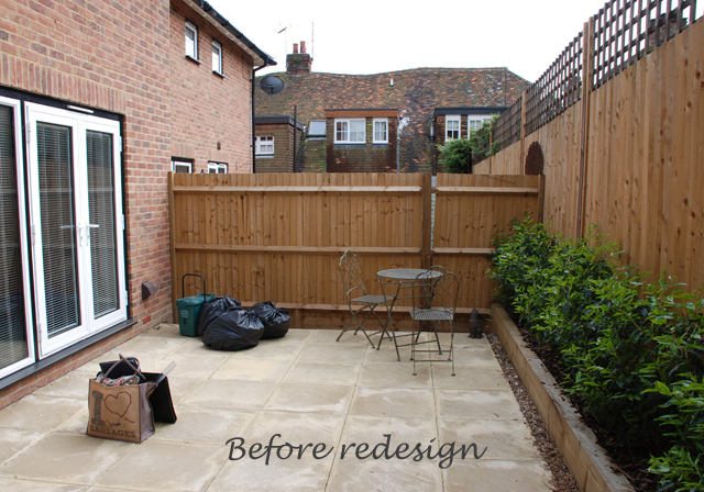bletchingley courtyard garden before redesign lisa cox designs - Courtyard Garden Ideas Uk