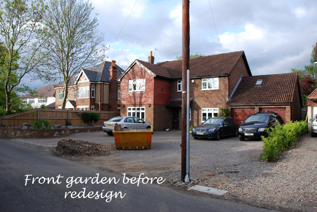Front garden Ashtead before redesign Lisa Cox Designs copy