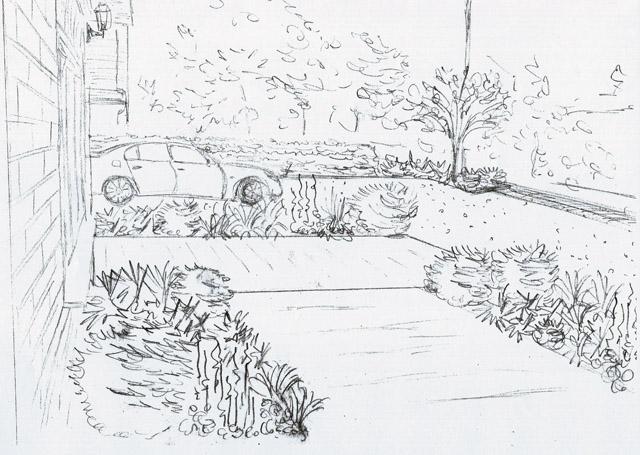Front garden Concept Sketch Ashtead Lisa Cox Designs