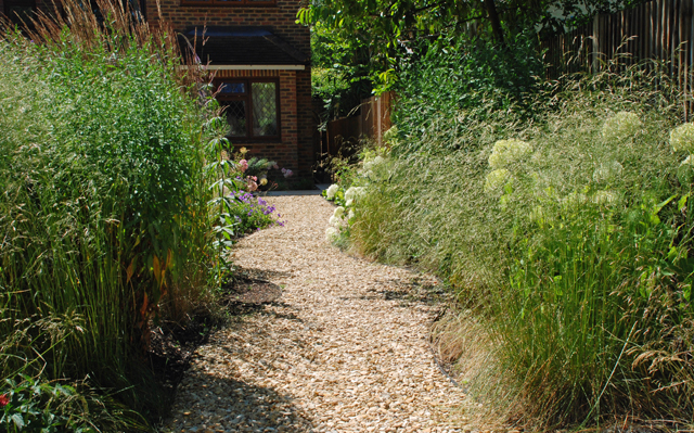 Meandering gravel pathway Lisa Cox Garden Designs