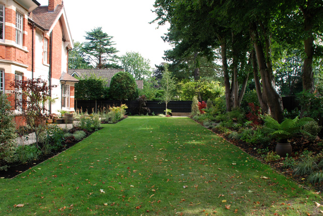 Long lawn in Woking Lisa Cox Designs