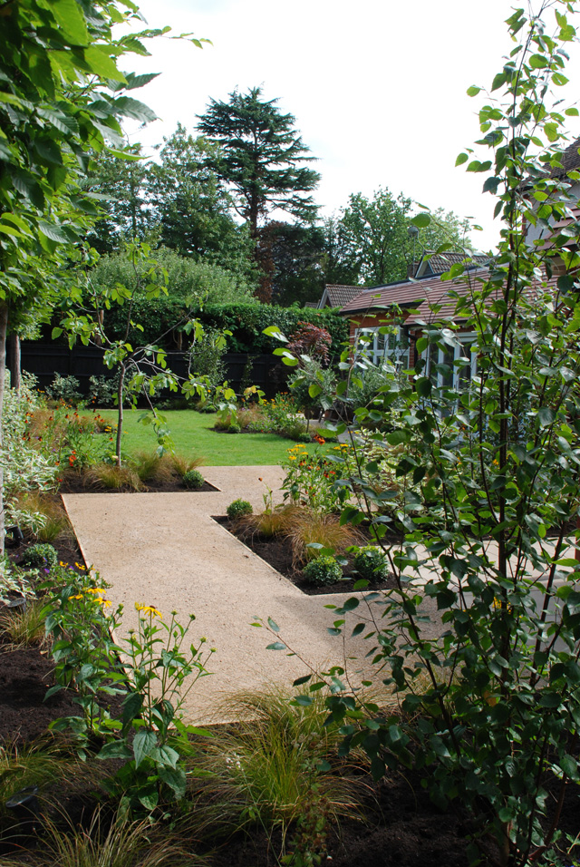 back garden Woking after redesign Lisa Cox Designs