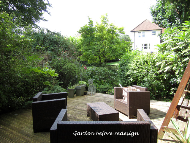 Epsom garden before redesign Lisa Cox Designs