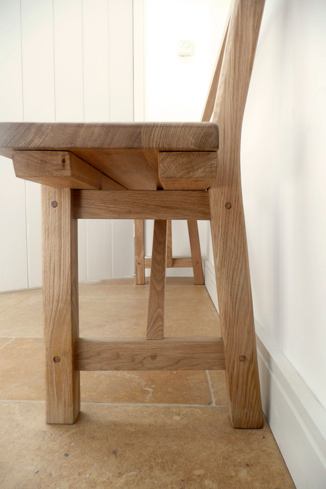 Oak seat detail by Jonathan Blackburn joinery