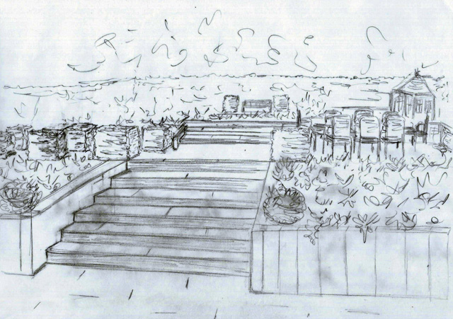 Concept sketch Lisa Cox Garden Designs