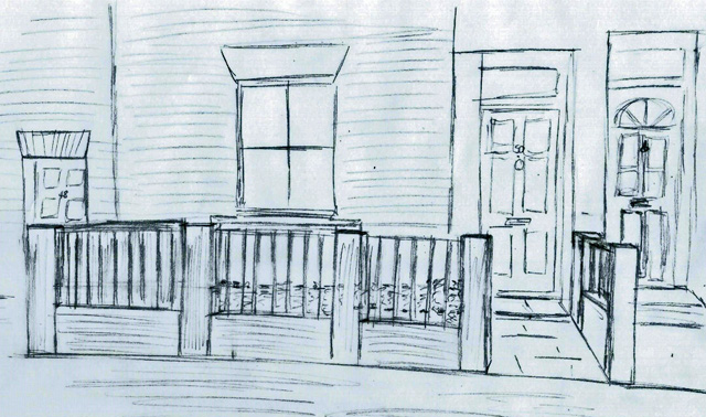 Concept sketch front garden Richmond Lisa Cox Designs