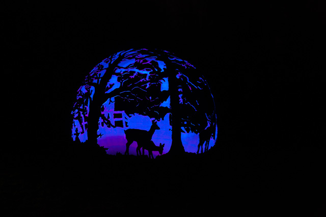 Wilderness Ball with electric lighting The Firepit Company