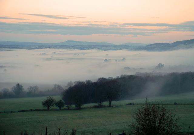 Misty frosty morning in Welsh Hills Lisa Cox Garden Designs