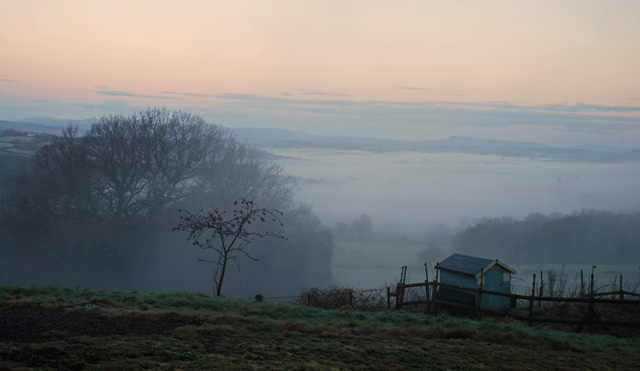 Misty morning in the Welsh Hills Lisa Cox Garden Designs