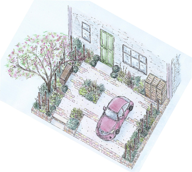 RHS Cardiff Flower Show 2015 - Victoria Park Mazda A Front Garden by Lisa Cox Designs
