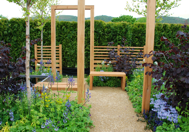 Beating the Blues festival garden RHS Malvern 2015 Lisa Cox