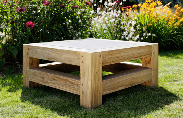 Square coffee table by Oxenwood