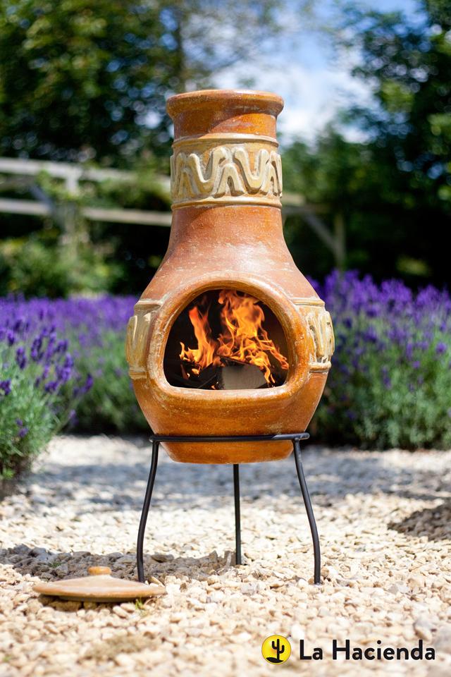 Traditional chiminea by La Hacienda Lisa Cox
