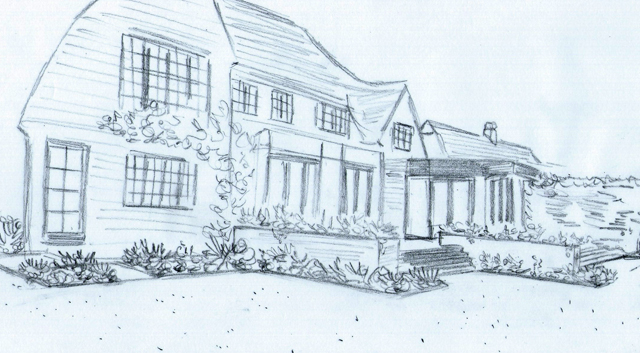 Concept sketch back garden Lisa Cox Designs