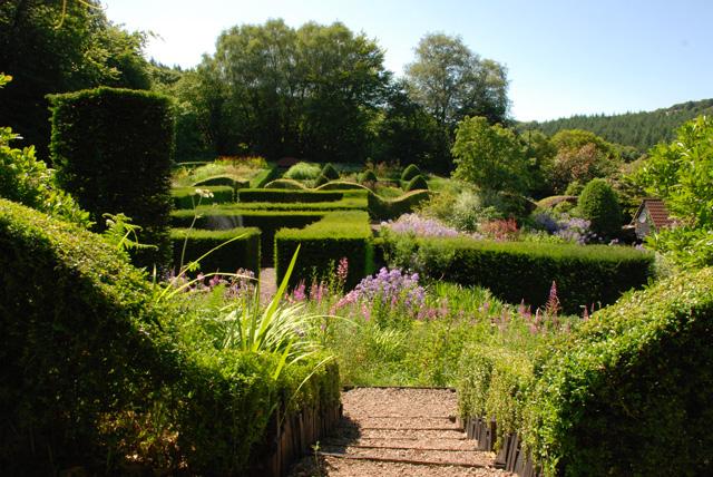 View across Veddw Garden Lisa Cox Designs