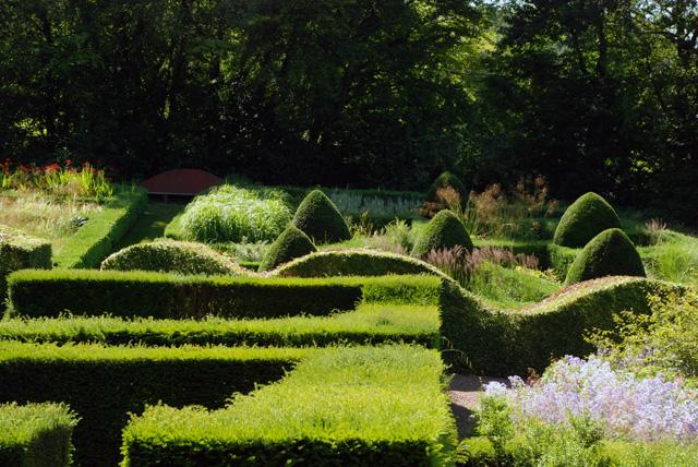 View across Veddw Garden South Wales Lisa Cox Designs