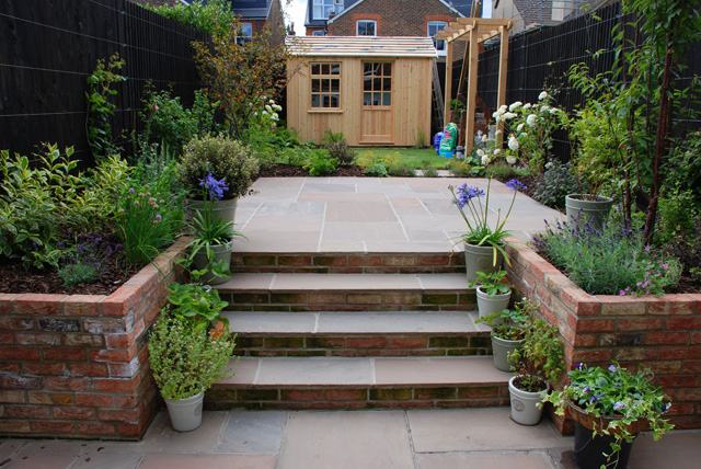 back garden reigate almost finished lisa cox designs - Garden Design Blog