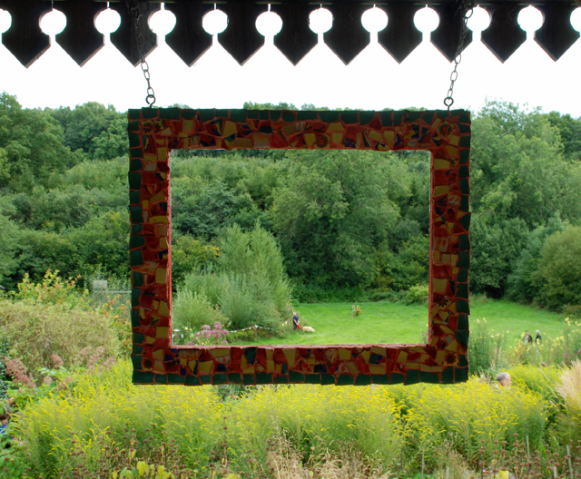 Framing the view at Montepelier Cottage garden Lisa Cox Designs