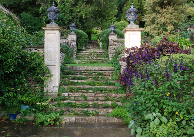 Main steps at Iford Manor Garden Lisa Cox Designs