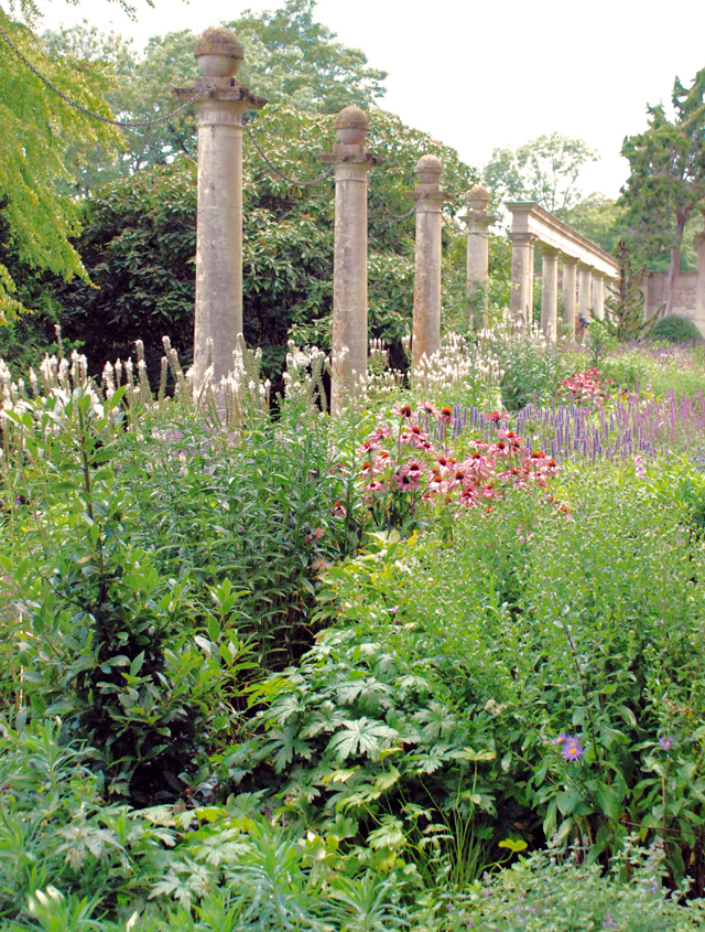 Restored herbaceous borders in Peto Garden at Iford Manor Lisa Cox Designs