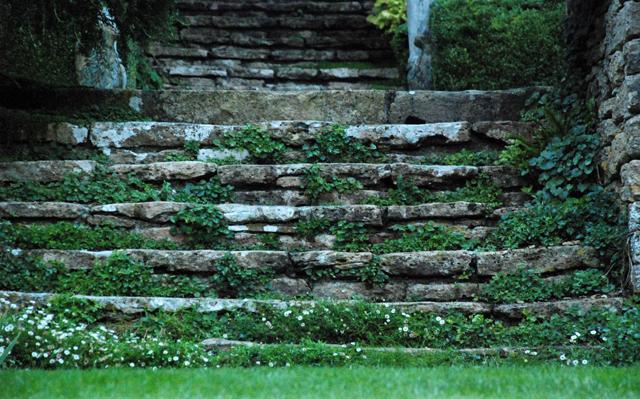 Steps at Iford Manor Garden Lisa Cox Designs